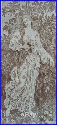 Evelyn De MORGAN FLORA Litho originale THE STUDIO 1900