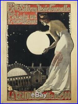 Exceptionnel Panonceau La Grande Lunette Exposition Universelle Paris 1900