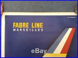 FABRE LINE MARSEILLES Affiche originale Litho J. TONELLI