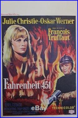 FAHRENHEIT 451 Affiche entoilée (François TRUFFAUT / Julie CHRISTIE, O. WERNER)
