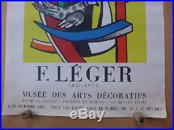 FERNAND LEGER affiche ancienne 1956 Lithographie MOURLOT