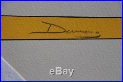 FERRARI 250 GTO NART affiche sérigraphie Michel CAZA 1970-80 signée DAMIANO Yvan