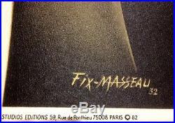 FIX MASSEAU AFFICHE NOUVELLE VAGUE EXACTITUDE 061 X 100 cms 1982