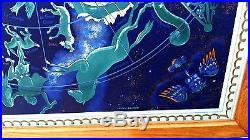 GRANDE AFFICHE ANCIENNE ENCADRE AIR FRANCE PAR BOUCHER VERS 1950
