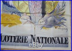 GRANDE AFFICHE DE LA LOTERIE NATIONALE. Signée André Galland. 1933