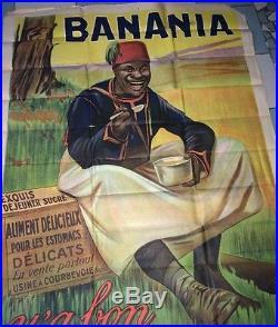 GRANDE AFFICHE ILLUSTRÉE POUR BANANIA (ANONYME vers 1930)