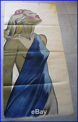 GRANDE AFFICHE ORIGINALE MLN RÉSISTANCE MARIANNE VINTAGE POSTER FRENCH PIN UP