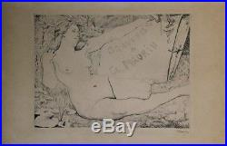 GRAVURES DE Ch. MAURIN Gravure burin entoilée et signée par Charles MAURIN