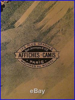 GUILLAUME GRANDE AFFICHE ANCIENNE AMBASSADEURS LECLERC ORIGINAL 1894 POSTER