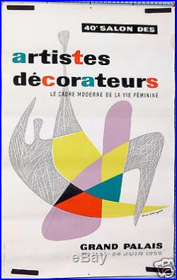 GUY GEORGET 40eme SALON DES ARTISTES DECORATEURS GRAND PALAIS 1956