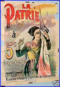 Gab Affiche Ancienne Journal La Patrie Atelier Hugo D'alesi Vintage Poster