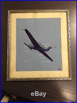 Gouache originale signée JEAN CARO et datée 2/38 1938 No GEO HAM