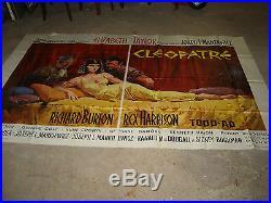 Grande affiche de cinéma Cléopatre