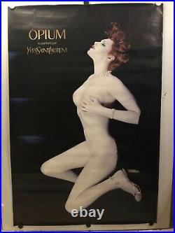 Grande et Rare affiche ancienne parfum Opium d Yves Saint Laurent