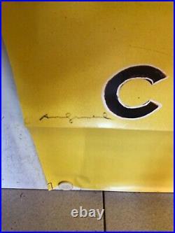 Grande et rare affiche ancienne Andy Wharol Chanel numéro 5