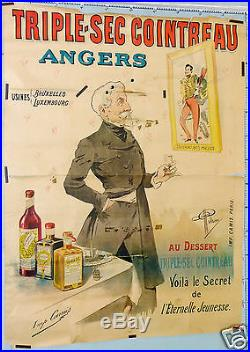 Guillaume Affiche Ancienne Triple Sec Cointreau Angers Vintage Poster
