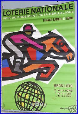 Guy Georget Affiche Ancienne Loterie Nationale Prix President De La Republique