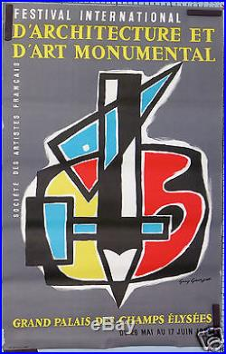 Guy Georget Festival International D'architecture Et D'art Monumental 1958