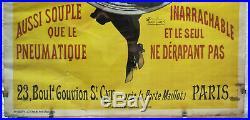 Henri PAOLO ANCIENNE AFFICHE LITHOGRAPHIÉE DUCASBLE CYCLES VÉLOS sous VERRE 1900
