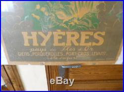 Hyéres Affiche originale pas entoilée SNCF litho