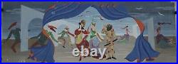 IMG 7403 Félix LABISSE ETUDE PIECE DE THEATRE ITALIEN GOUACHE 27,5 x 71 cm