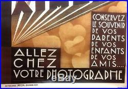 J. A VIGNAU Affiche LITHOGRAPHIE Originale de 1930 Allez chez le photographe