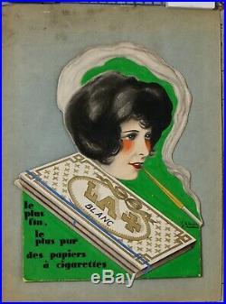 JEAN ALFRED DUPUICH LA+ PAPIER CIGARETTE PROJET MAQUETTE CARTON 25,5 x20 cm