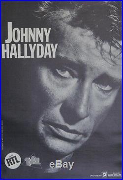 JOHNNY HALLYDAY / Spectacles CAMUS-COULLIER Affiche originale entoilée