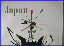 Japan/Japon Air France, Affiche ancienne/original poster Georges Mathieu Draeger