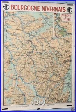 Jean Dollfus 1931 Affiche Ancienne Trains Plm Bourgogne Nivernais