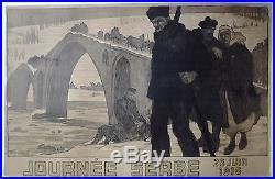 Journée SERBE 1916 par P. Mourgue AFFICHE ORIGINALE/R215