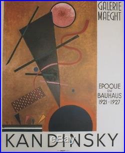 KANDINSKY EPOQUE DU BAUHAUS 1921-1927 MAEGHT 1960 Affiche originale entoilée