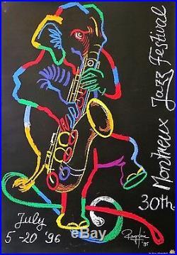 KNIE Rolf Affiche originale Montreux Jazz Festival poster