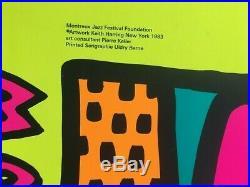Keith Haring ORIGINAL SERIGRAPHIE AFFICHE Montreux Jazz Festival