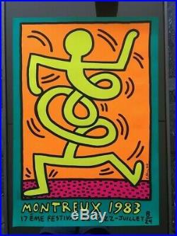 Keith Haring SERIGRAPHIE ORIGINAL AFFICHE Montreux Jazz Festival