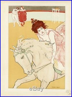 L'ECUYERE Litho L'ESTAMPE MODERNE originale entoilée Richard RANFT 1897