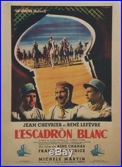 L'ESCADRON BLANC Affiche originale entoilée (Jean CHEVRIER, René LEFEVRE)