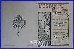 L'ESTAMPE MODERNE N°18 Couverture originale entoilée (MUCHA octobre 1898)