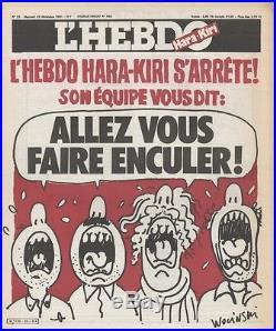 L'HEBDO HARA-KIRI N°23 du 23/12/1981 WOLINSKI L'HEBDO HARA-KIRI S'ARRÊTE