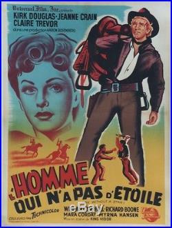 L'HOMME QUI N'A PAS D'ETOILE (MAN WITHOUT A STAR) Affiche entoilée Kirk DOUGLAS
