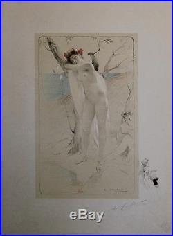 L'INCONNUE Litho L'ESTAMPE MODERNE originale entoilée et signée Antoine CALBET