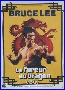 LA FUREUR DU DRAGON (THE WAY OF THE DRAGON) Affiche orig. Entoilée (Bruce LEE)