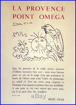 LA PROVENCE POINT OMEGA René CHAR PICASSOAffiche originale entoilée 51x69cm