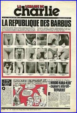 LA SEMAINE DE CHARLIE N°10 du 16/7/1981 LA REPUBLIQUE DES BARBUS