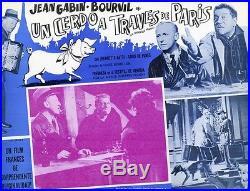 LA TRAVERSEE DE PARIS Affiche mexicaine entoil. AUTANT-LARA, Jean GABIN, BOURVIL