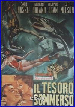LA VENUS DES MERS CHAUDES (UNDERWATER) Affiche italienne entoilée Jane RUSSELL