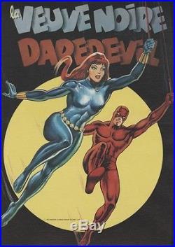 LA VEUVE NOIRE (DAREDEVIL) Affiche originale entoilée 1977 37x50cm
