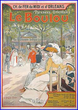 LE BOULOU Affiche tourisme originale
