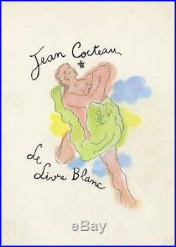 LE LIVRE BLANC Pastel et crayon s/papier entoilé d'après Jean COCTEAU en 1928