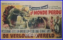 LE MONDE PERDU (THE LOST WORLD) Affiche belge originale entoilée (Conan DOYLE)